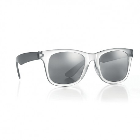 Sunglasses with mirror lenses in same tone. Froste