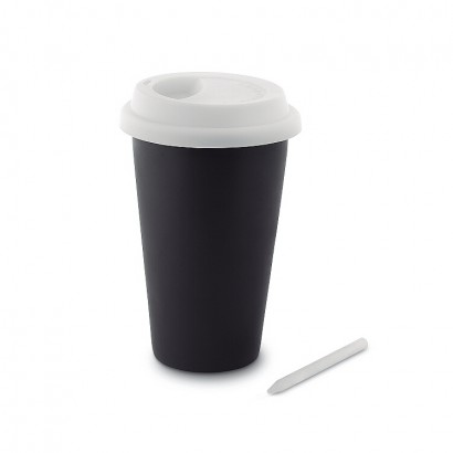 Chalk tumbler (double wall) with silicone lid