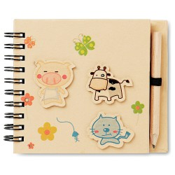 Children note pad with pen