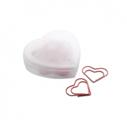 Heart shape clips in box