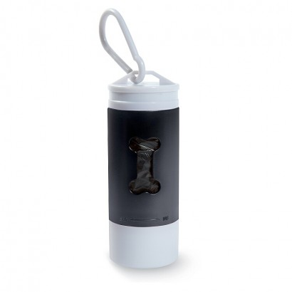 Dog`s led light with rubbish container/bags
