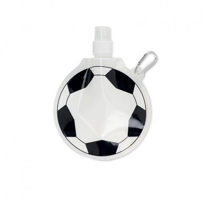 foldable waterbottle 500 ml in football shape (sil