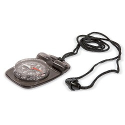 Whistle/compas with cord (incl safety buckle)