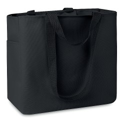 Shopping bag 600D with side pocket and inside zipp