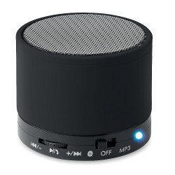 Round bluetooth speaker rubberized finish