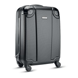 Retro ABS cabin luggage with black corners/4 wheel