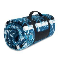 Picnic blanket soft coral fleece  with Arabic patt