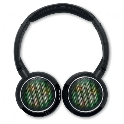 Bluetooth headphone with flashing light