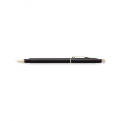 Classic Century Classic Black 0.7MM Pencil With 23K Gold Plated appointments