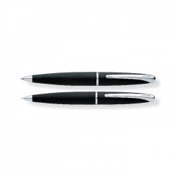 ATX Basalt Black Pen and Pencil Set With Chrome Plated appointments