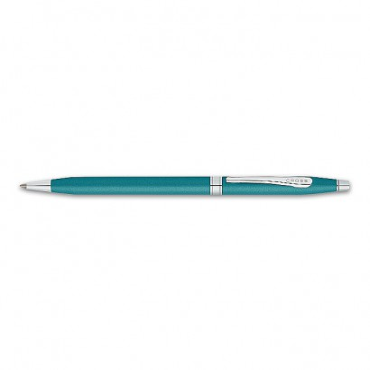 Century Colours Teal Ballpoint Pen With Chrome Plated appointments