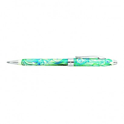 Masquerade Peacock Green Ballpoint Pen With Chrome Plated appointments