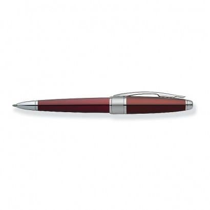 Apogee Titian Red Lacquer Ballpoint Pen With Chrome Plated appointments