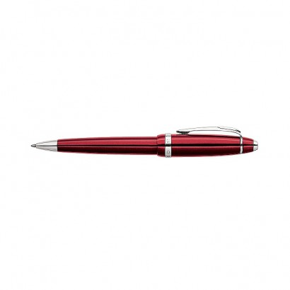 Affinity Crimson Red Ballpoint Pen With Polished Chrome appointments