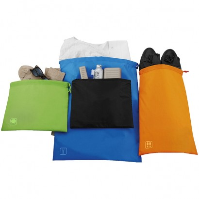 Travel set of go clean bags
