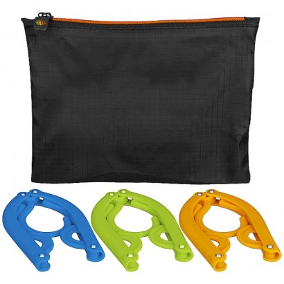 3-piece foldable hanger set