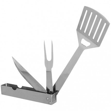 3-in-1 foldable BBQ tool