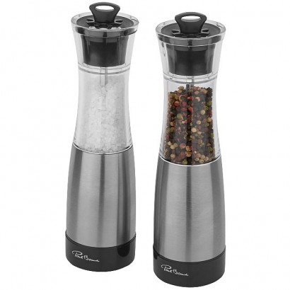 Duo salt and pepper mill set