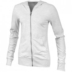 """Garner"" full zip hooded ladies sweater"