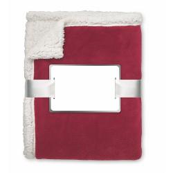Blanket, coral fleece/ sherpa