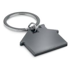 House shape plastic keyring