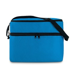 Cooler bag with 2 compartments and aluminium foil lining