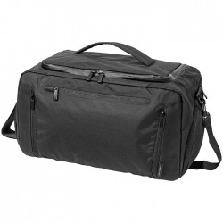 Duffel with tablet pocket