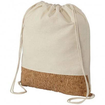 Cotton and cork drawstring rucksack