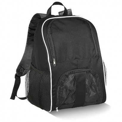 Backpack with zipped main compartment