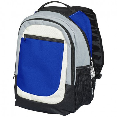 Backpack featuring two main double zipped compartments