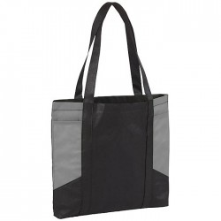 Shopper bag with open main compartment