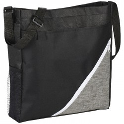 Tote shopper bag includes large main compartment with Velcro closure