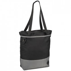 Convention tote featuring a zipped main compartment