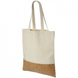 Cotton and cork shopper bag