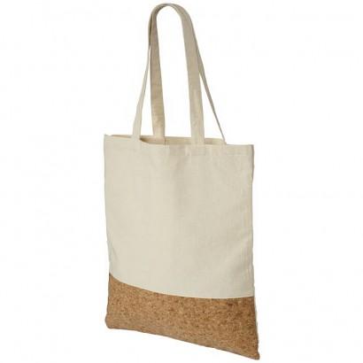 Cotton and cork shopper bag
