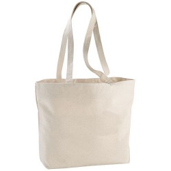 Zipped shopper tote