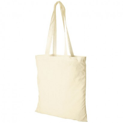 Cotton tote with open main compartment