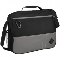 Conference style briefcase with zipped main compartment