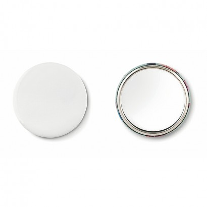 Mirror button, metal