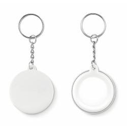Small pin button key ring