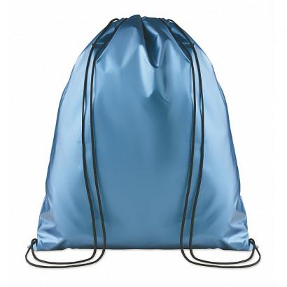 Drawstring bag with lamination