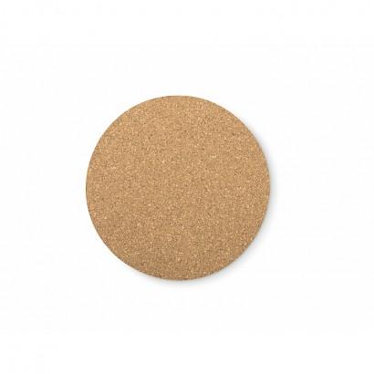 Cork coaster round, 10 cm
