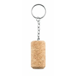 Wine cork key ring