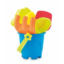 Kids beach bucket with 6 toys