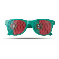 Sunglasses with flag lenses