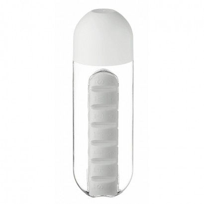 Bottle with pill box, 600 ml