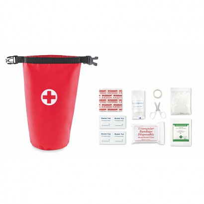 First aid kit in bag