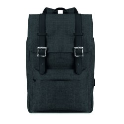 Computer backpack in 600D 2 tone polyester with padded shoulder strap
