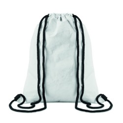 Drawstring bag made of durable and recyclable TyvekŽ material with cotton drawstring