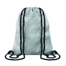 Drawstring bag made of durable and recyclable TyvekŽ material with coloured coating and cotton drawstring